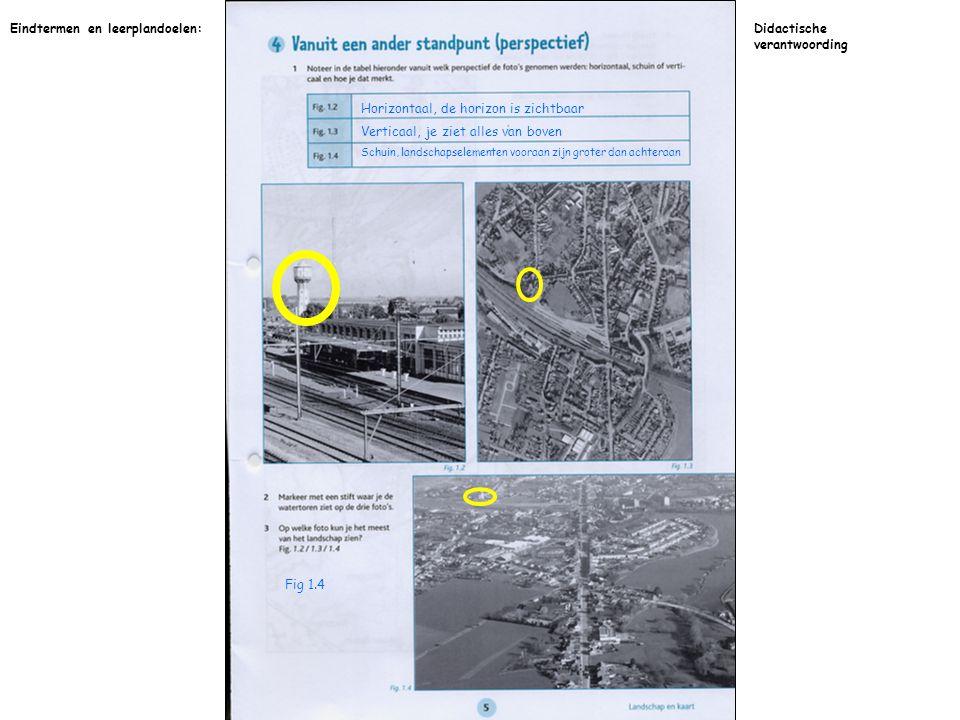 Op kaart 1 staan de landschapselementen groter voorgesteld dan op kaart 2 Eindtermen en leerplandoelen:Didactische verantwoording