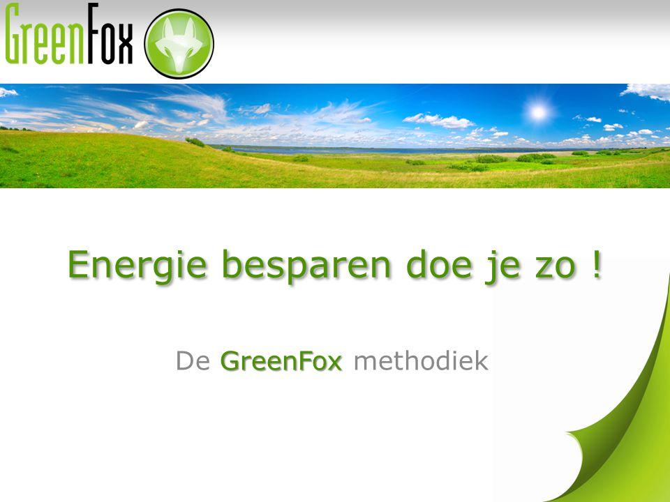 Energie besparen doe je zo ! GreenFox De GreenFox methodiek