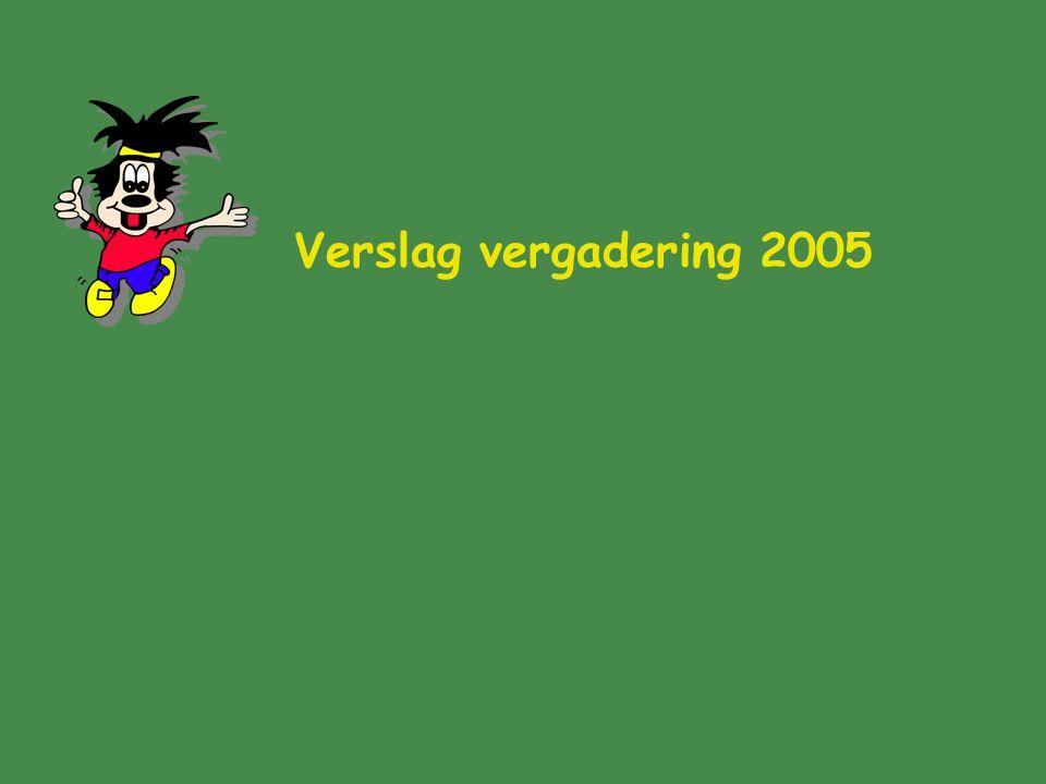Verslag vergadering 2005
