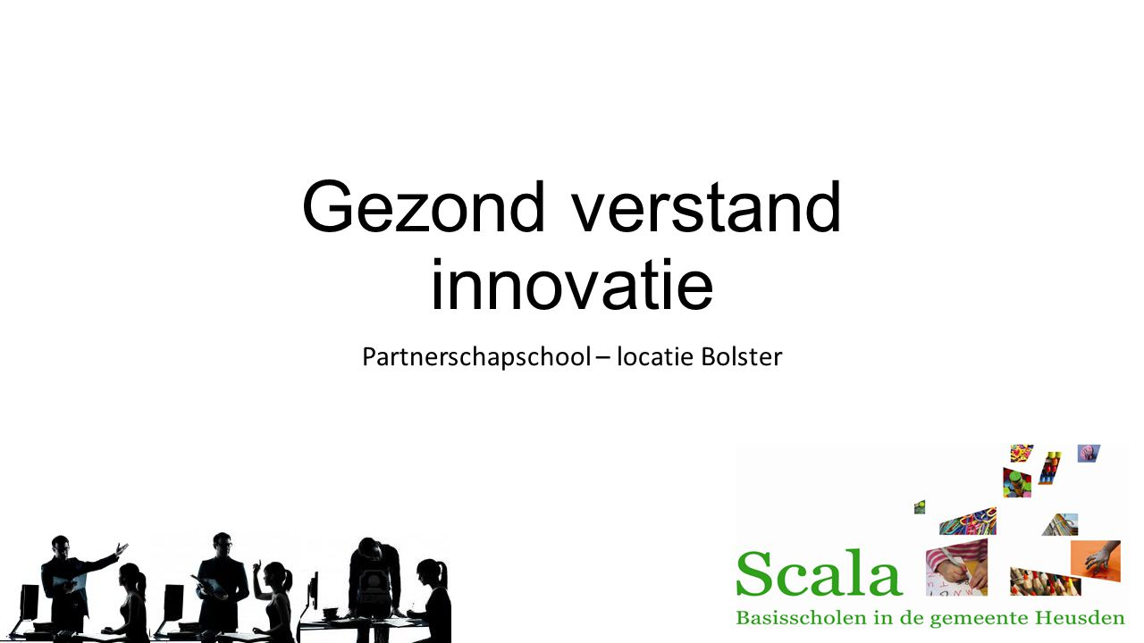 Gezond verstand innovatie Partnerschapschool – locatie Bolster