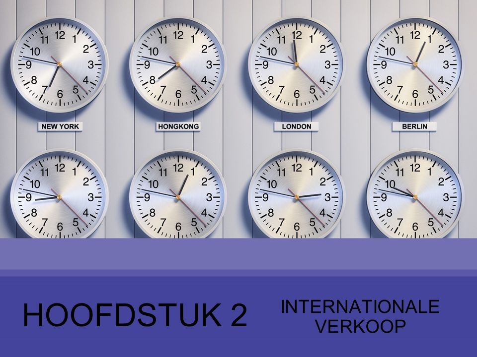 HOOFDSTUK 2 INTERNATIONALE VERKOOP