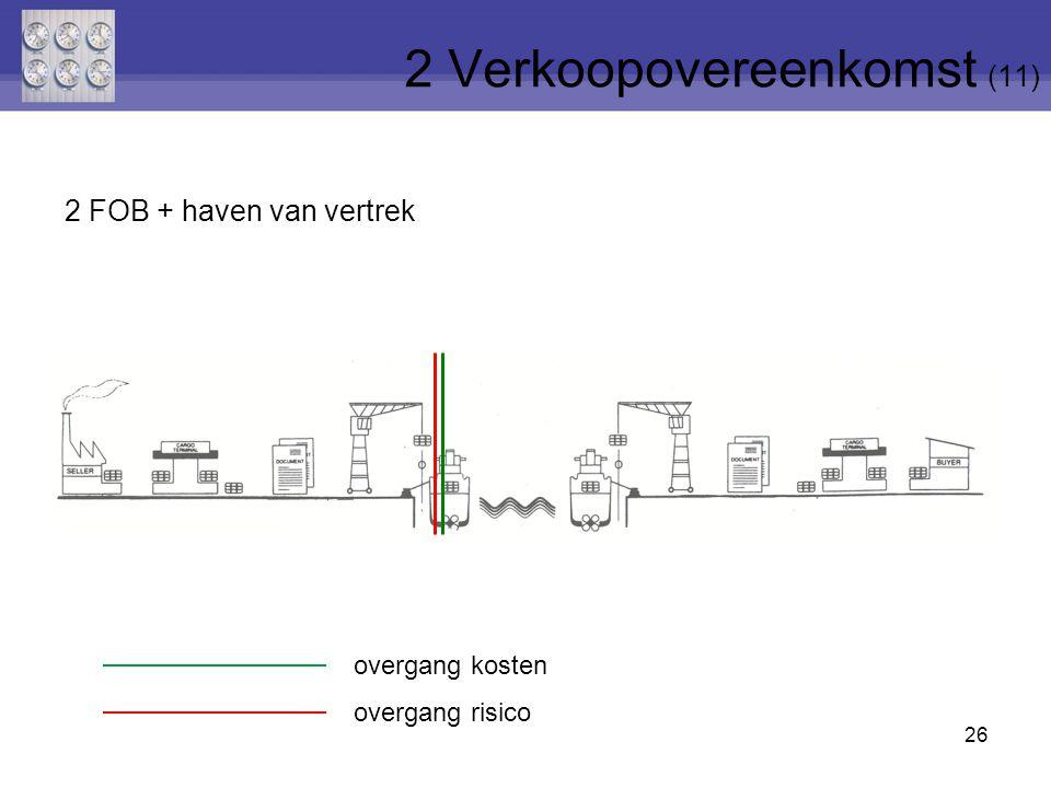 26 2 FOB + haven van vertrek 2 Verkoopovereenkomst (11) overgang risico overgang kosten