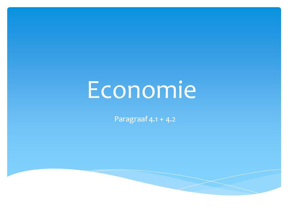 Economie Paragraaf 4.1 + 4.2