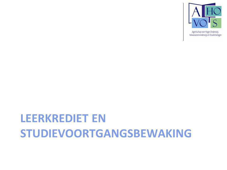 LEERKREDIET EN STUDIEVOORTGANGSBEWAKING