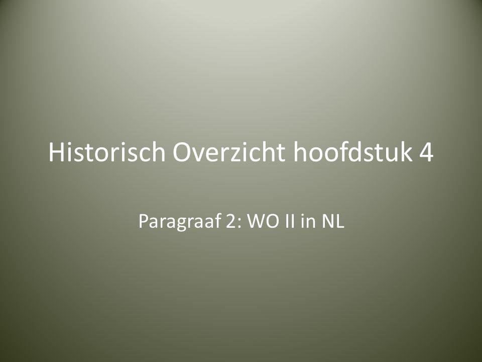 Historisch Overzicht hoofdstuk 4 Paragraaf 2: WO II in NL