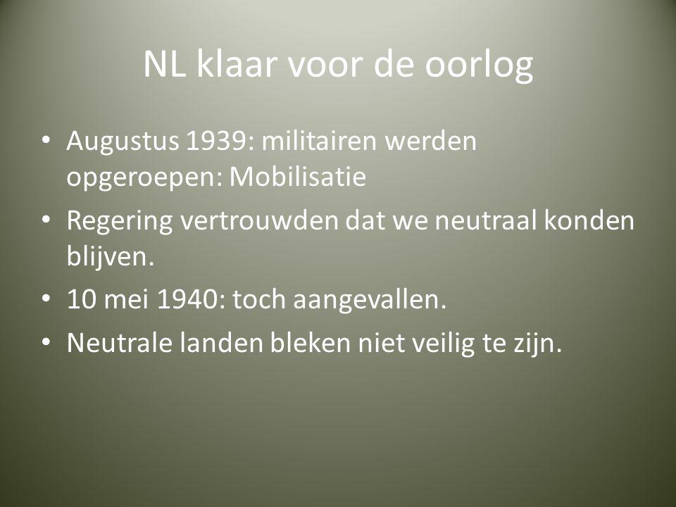 Reactie NL Meeste Nederlanders pasten zich aan, aan de Duitsers.