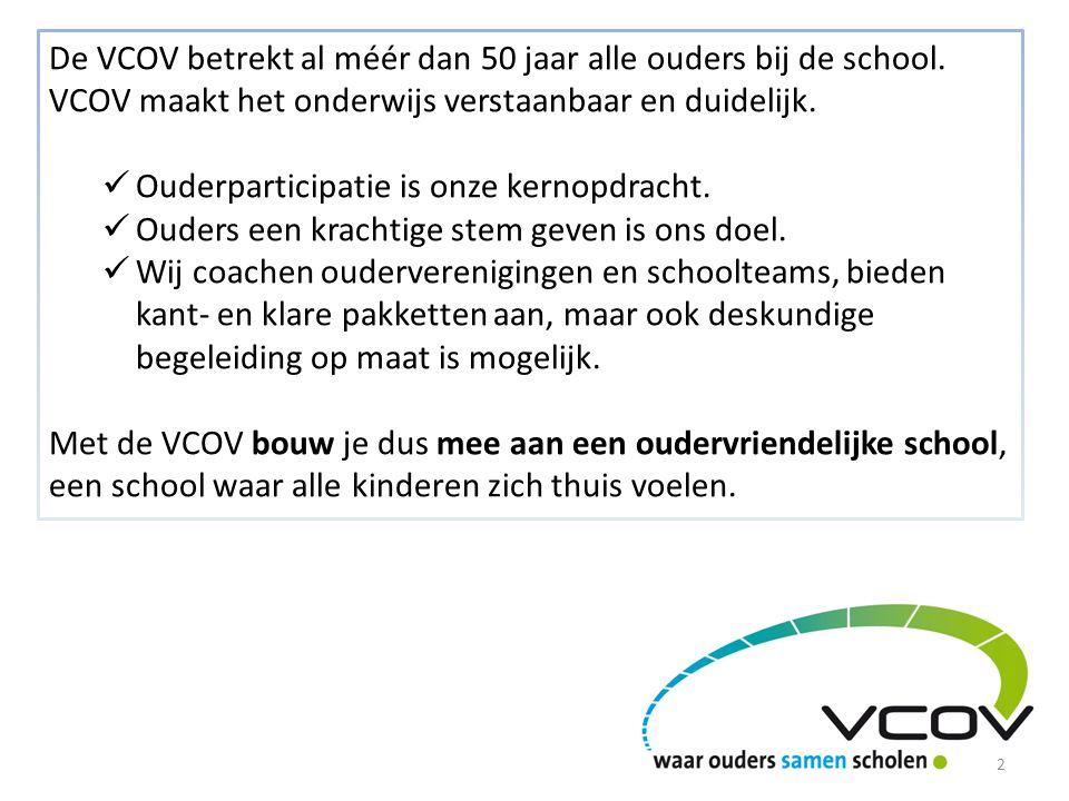 De VCOV betrekt al méér dan 50 jaar alle ouders bij de school.