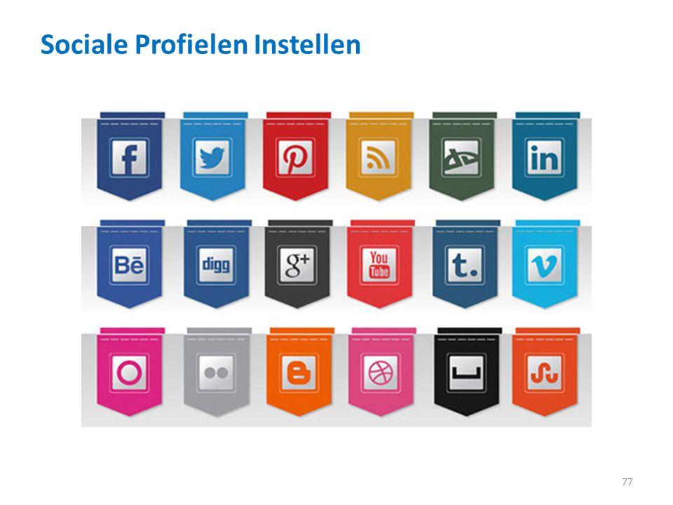 Sociale Profielen Instellen 77
