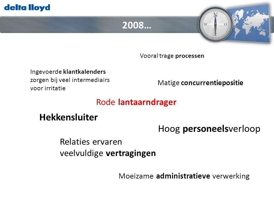 Nog in te vullen 2008… DOEL: Nummer 1 pensioenverzekeraar VISIE: Duidelijk in zaken met een persoonlijke benadering MISSIE: Wij bouwen aan het gaafste pensioenhuis van Nederland