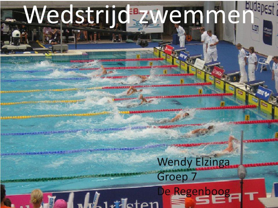 Wedstrijd zwemmen Wendy Elzinga Groep 7 De Regenboog