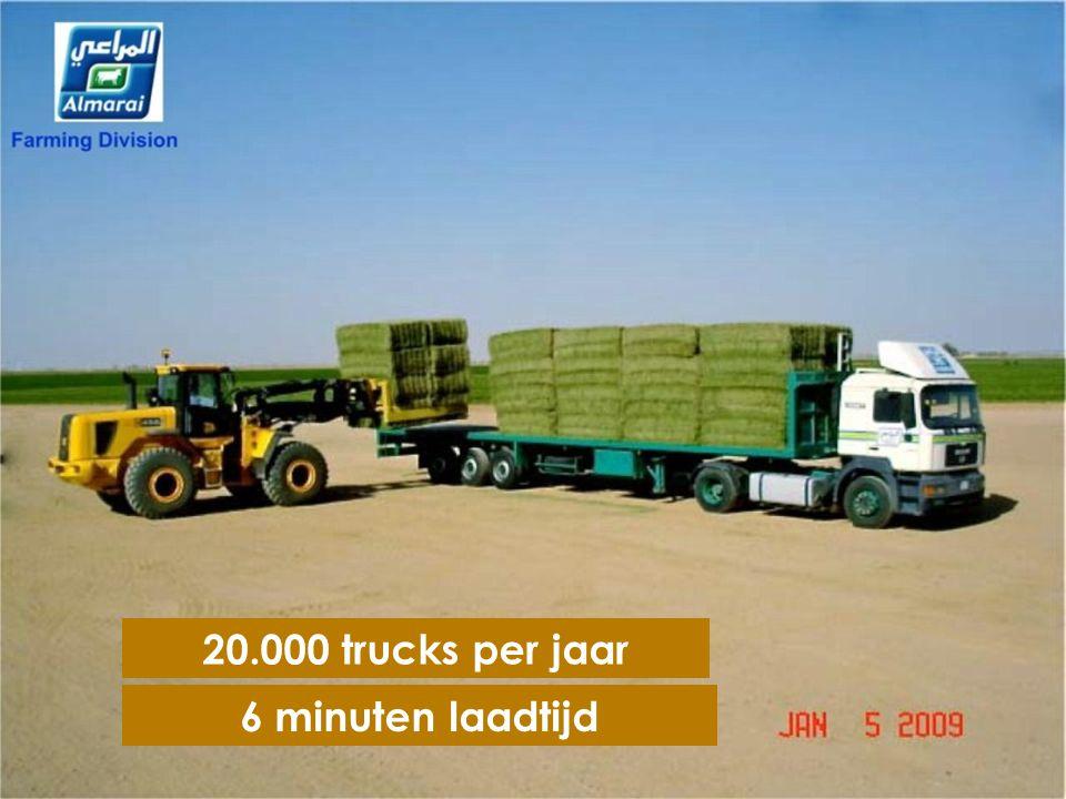 45 Claas Rota Cut balenpersen 4000 balen per nacht of 100 trucks geladen