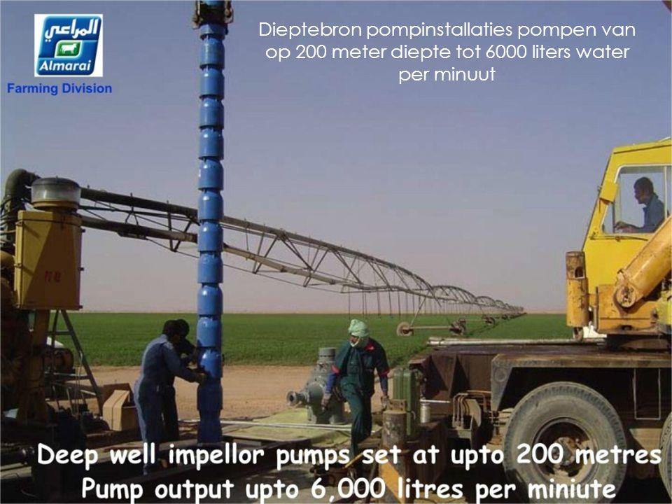 Dieptebron pompinstallaties pompen van op 200 meter diepte tot 6000 liters water per minuut
