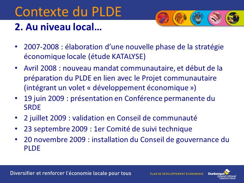 Contexte du PLDE 2.