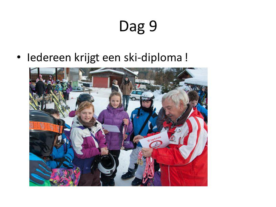 Dag 9 Iedereen krijgt een ski-diploma !