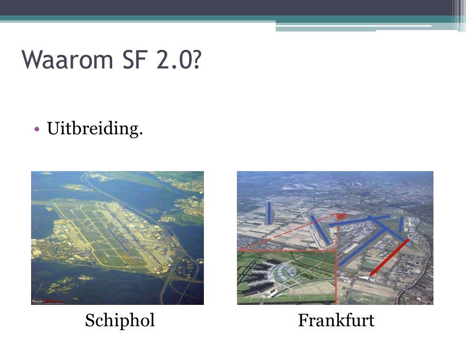 Waarom SF 2.0? Uitbreiding. FrankfurtSchiphol