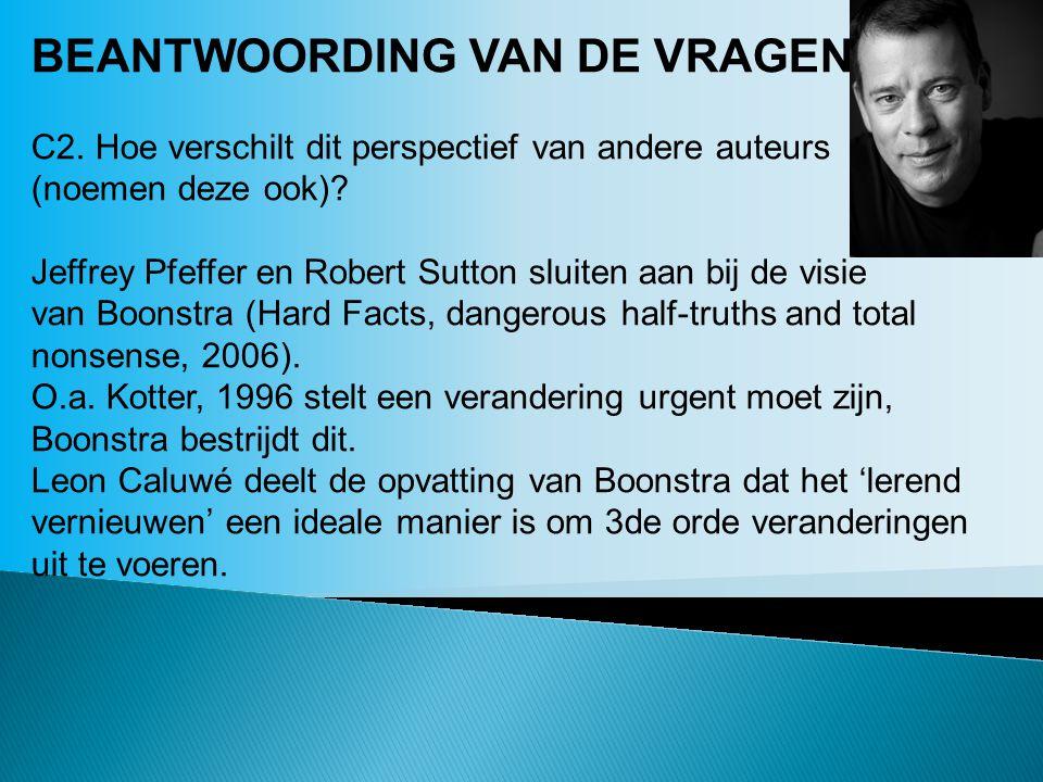 BEANTWOORDING VAN DE VRAGEN: C2.