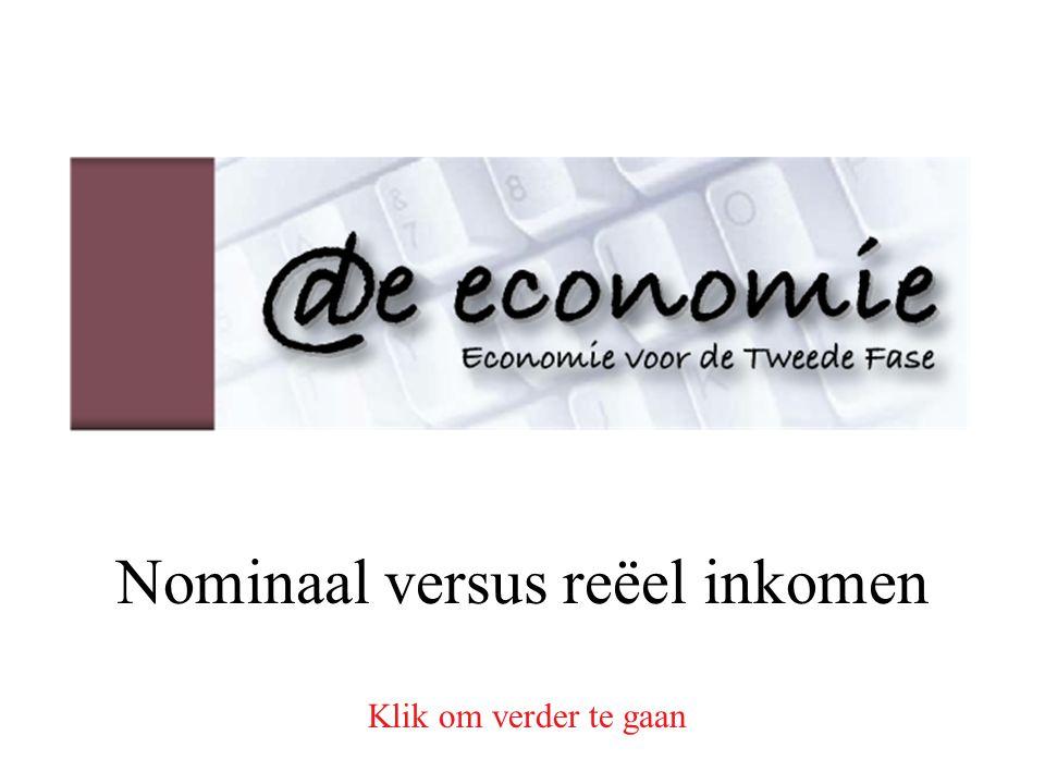 Nominaal versus reëel inkomen Klik om verder te gaan