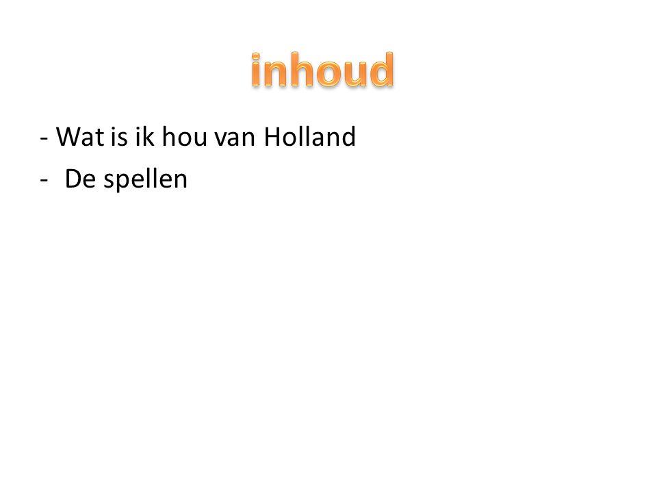 Ik hou van Holland is een spel en je kan dan iets winnen met punten.