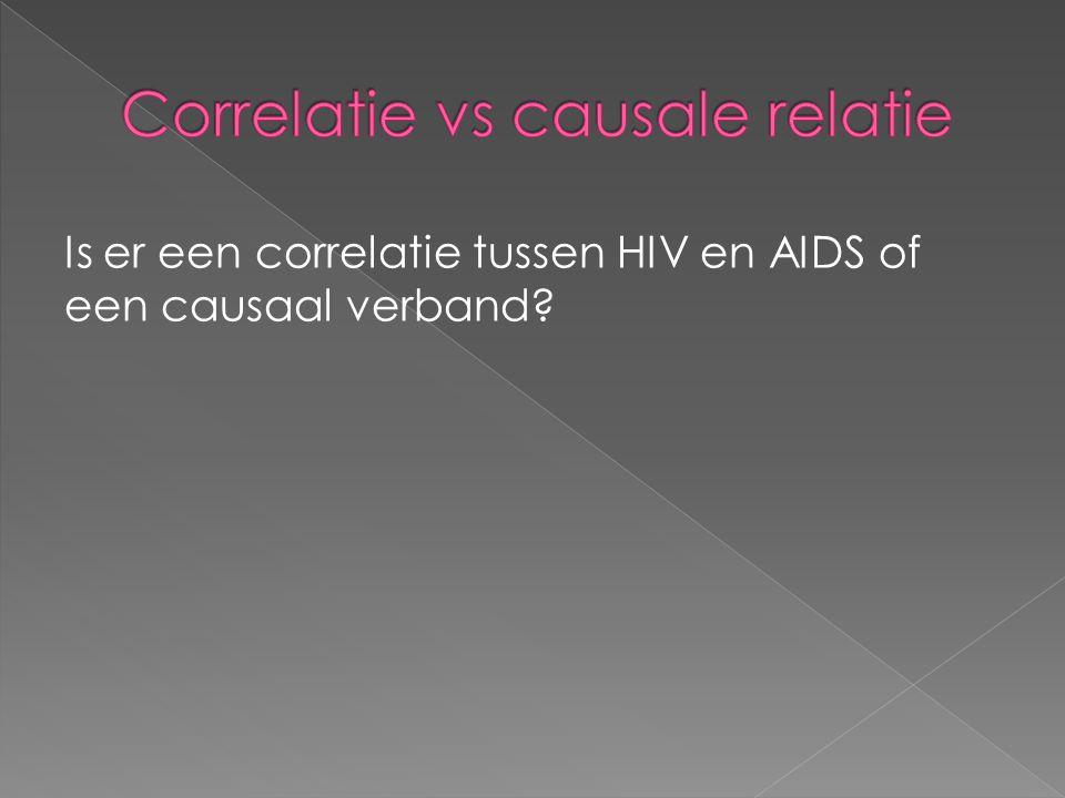 Is er een correlatie tussen HIV en AIDS of een causaal verband?