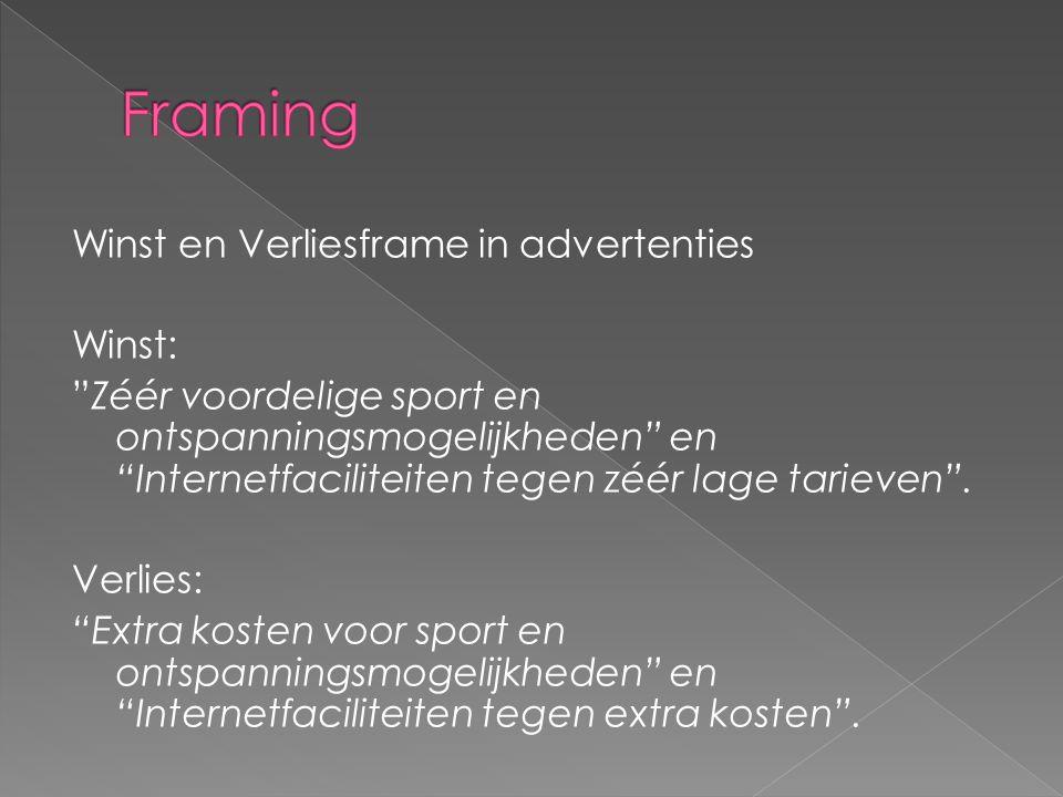 Winst en Verliesframe in advertenties Winst: Zéér voordelige sport en ontspanningsmogelijkheden en Internetfaciliteiten tegen zéér lage tarieven .