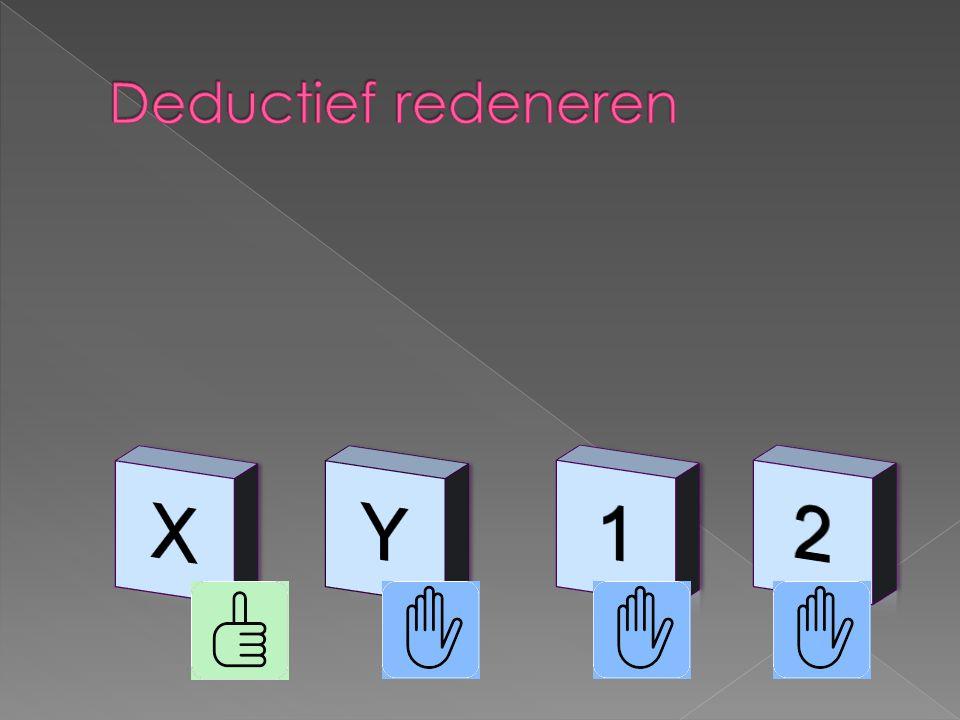  Als er een x op de voorkant staat, dan staat er een 1 op de achterkant  is niet hetzelfde als  Als er een 1 op de achterkant staat dan staat er een x op de voorkant