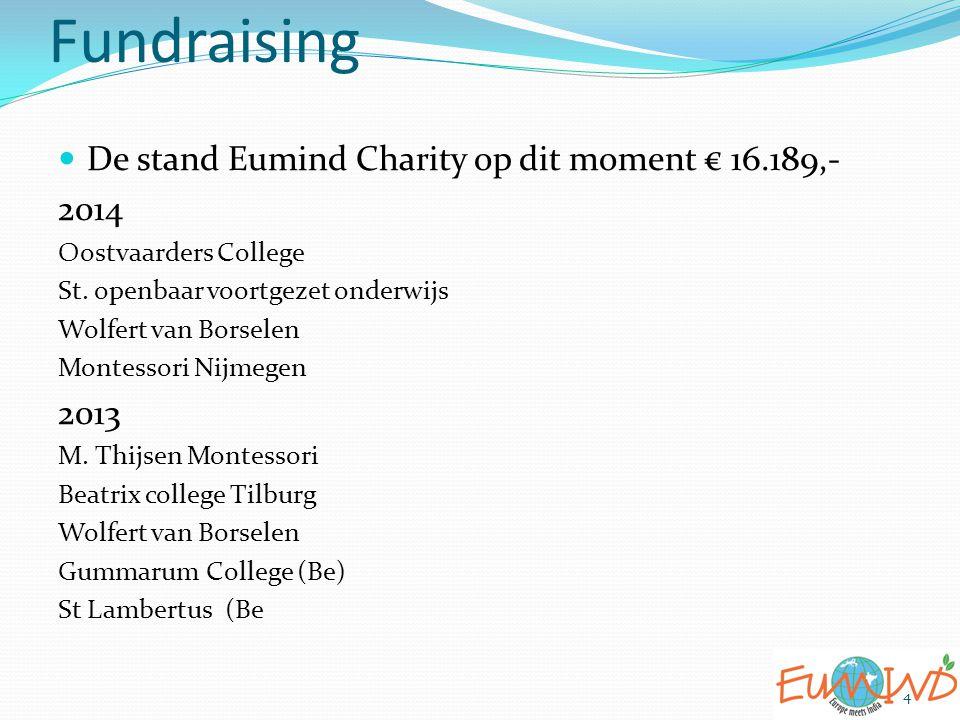 Fundraising 4 De stand Eumind Charity op dit moment € 16.189,- 2014 Oostvaarders College St. openbaar voortgezet onderwijs Wolfert van Borselen Montes