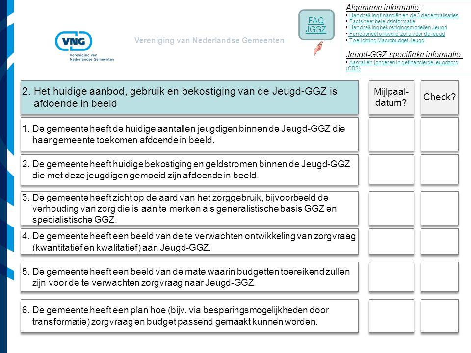 Vereniging van Nederlandse Gemeenten 3. De gemeente heeft zicht op de aard van het zorggebruik, bijvoorbeeld de verhouding van zorg die is aan te merk