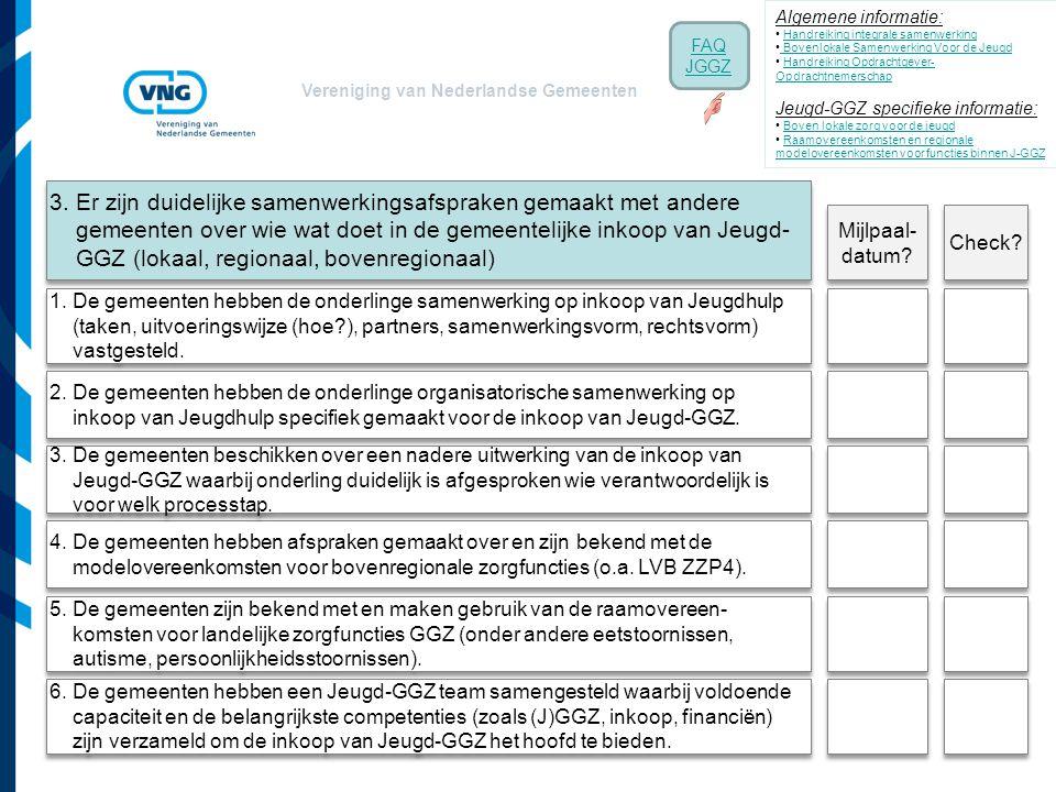 Vereniging van Nederlandse Gemeenten 4. De gemeenten hebben afspraken gemaakt over en zijn bekend met de modelovereenkomsten voor bovenregionale zorgf