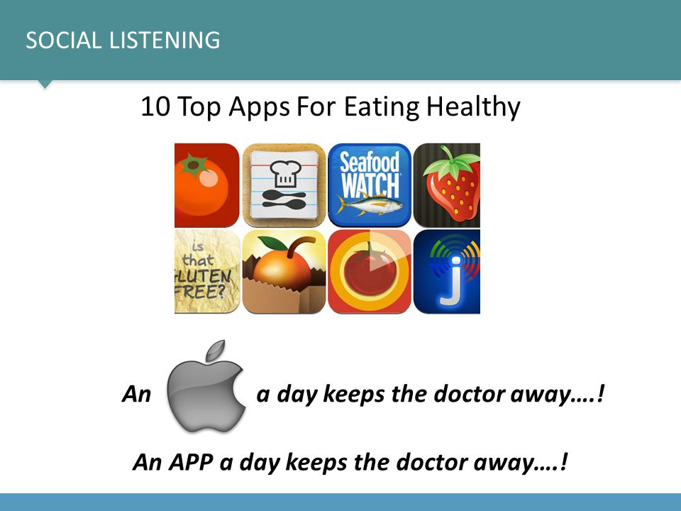10 Top Apps For Eating Healthy An APP a day keeps the doctor away…..