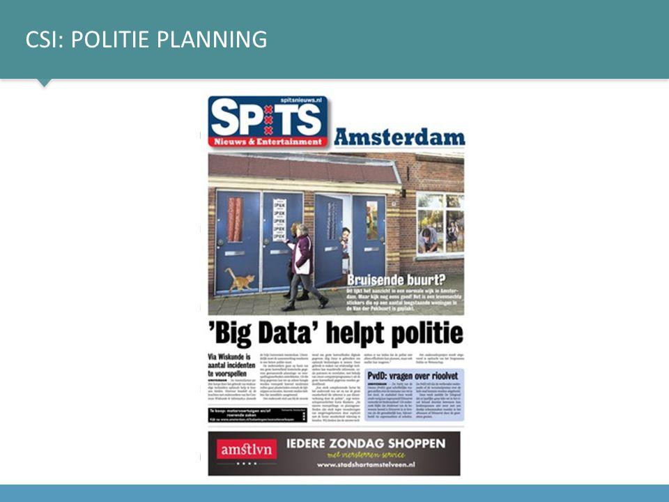 CSI: POLITIE PLANNING