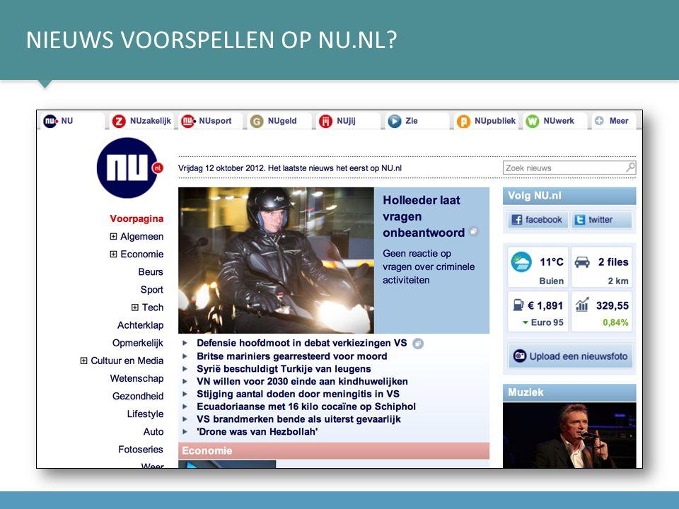 NIEUWS VOORSPELLEN OP NU.NL?