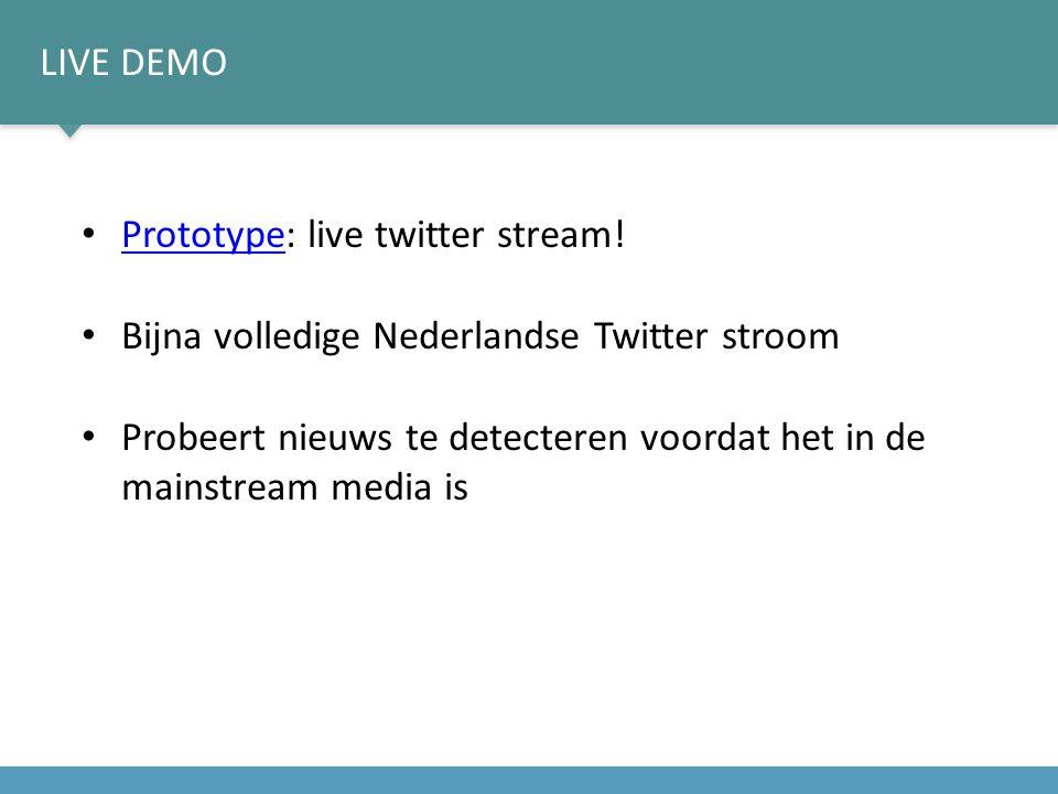 LIVE DEMO Prototype: live twitter stream.