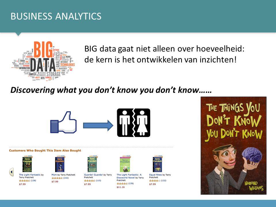 BIG data gaat niet alleen over hoeveelheid: de kern is het ontwikkelen van inzichten.