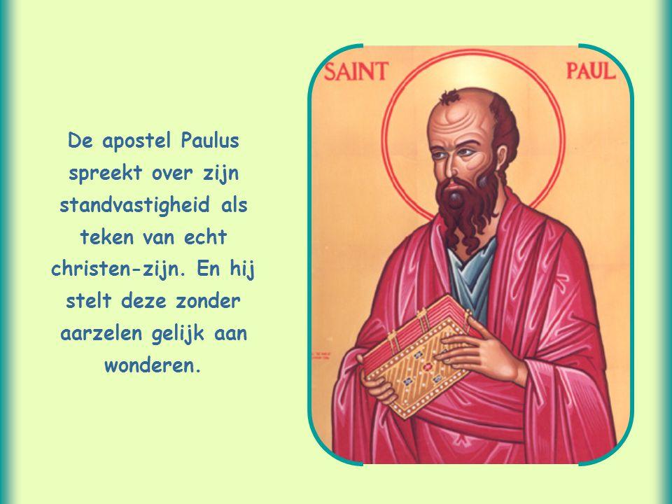 De apostel Paulus spreekt over zijn standvastigheid als teken van echt christen-zijn.