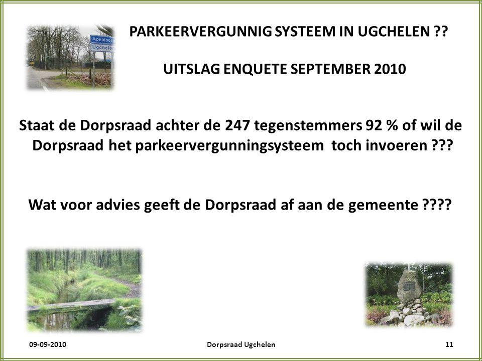 09-09-201011Dorpsraad Ugchelen PARKEERVERGUNNIG SYSTEEM IN UGCHELEN .