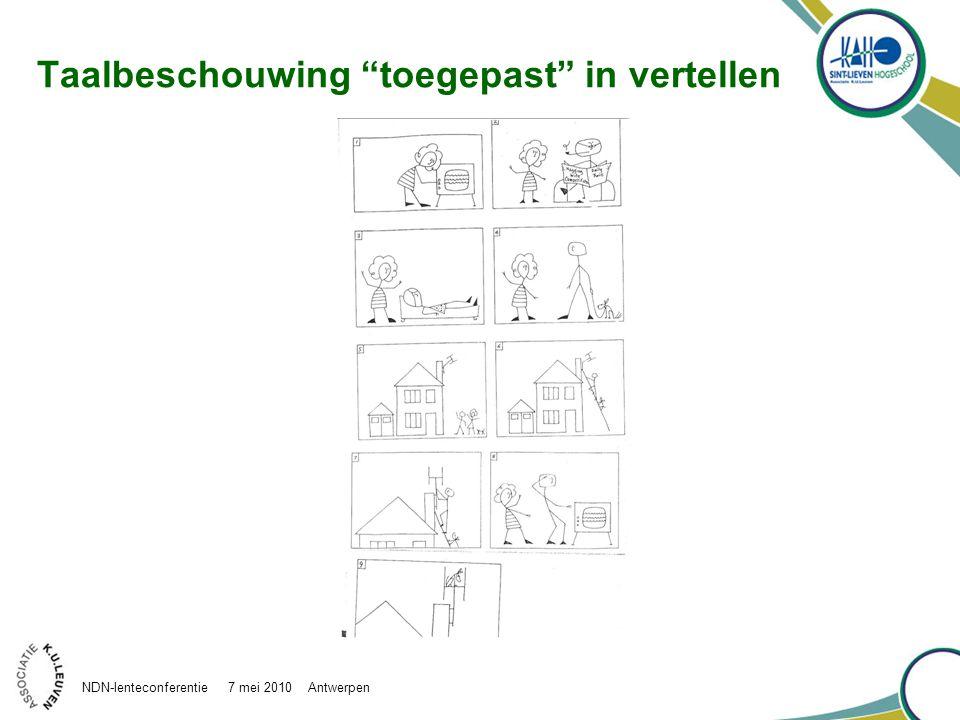 """Taalbeschouwing """"toegepast"""" in vertellen NDN-lenteconferentie 7 mei 2010 Antwerpen"""