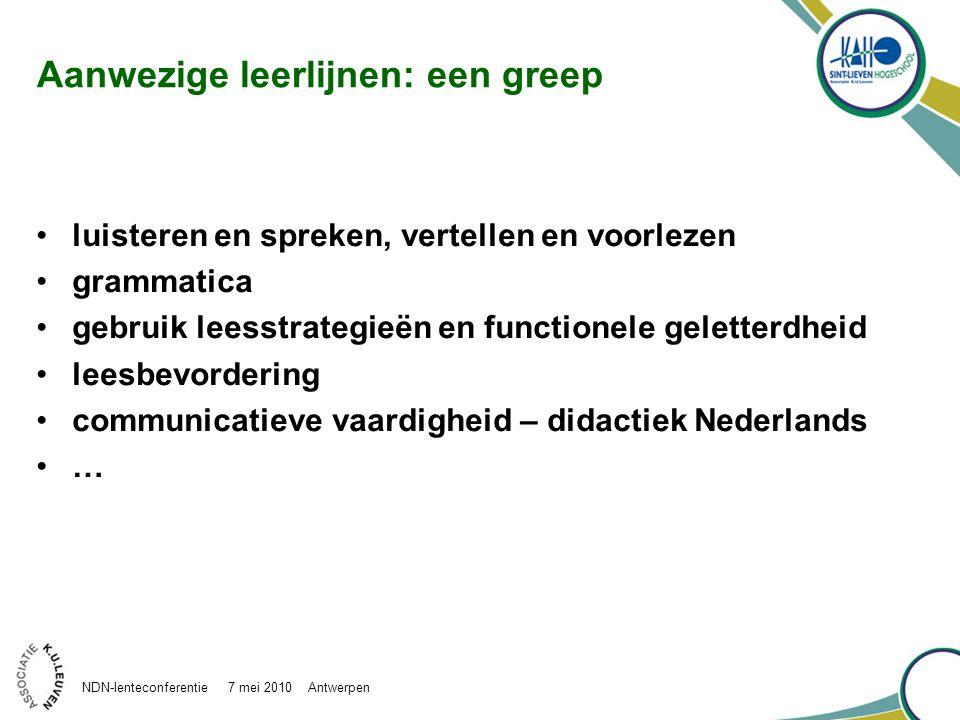 Woordleer: denkrelaties in puzzelverhaal NDN-lenteconferentie 7 mei 2010 Antwerpen
