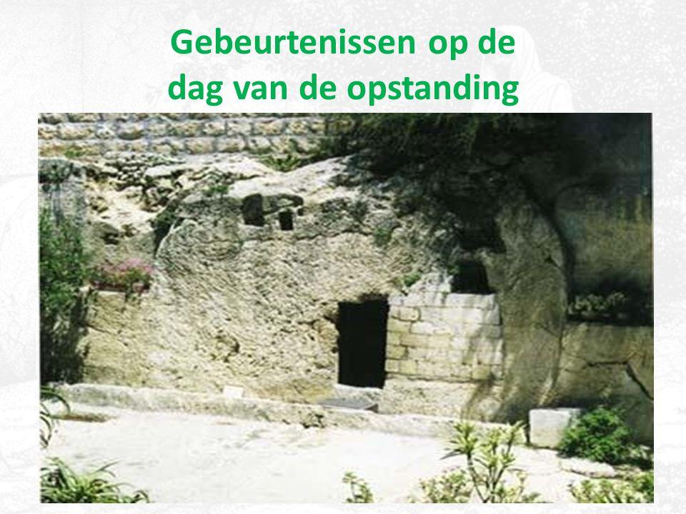 Gebeurtenissen op de dag van de opstanding