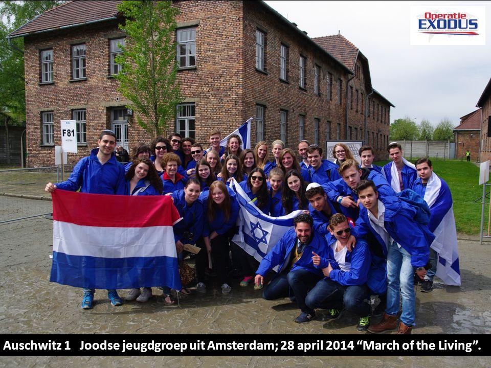 "KL Auschwitz 1 Joodse jeugdgroep uit Amsterdam; 28 april 2014 ""March of the Living""."