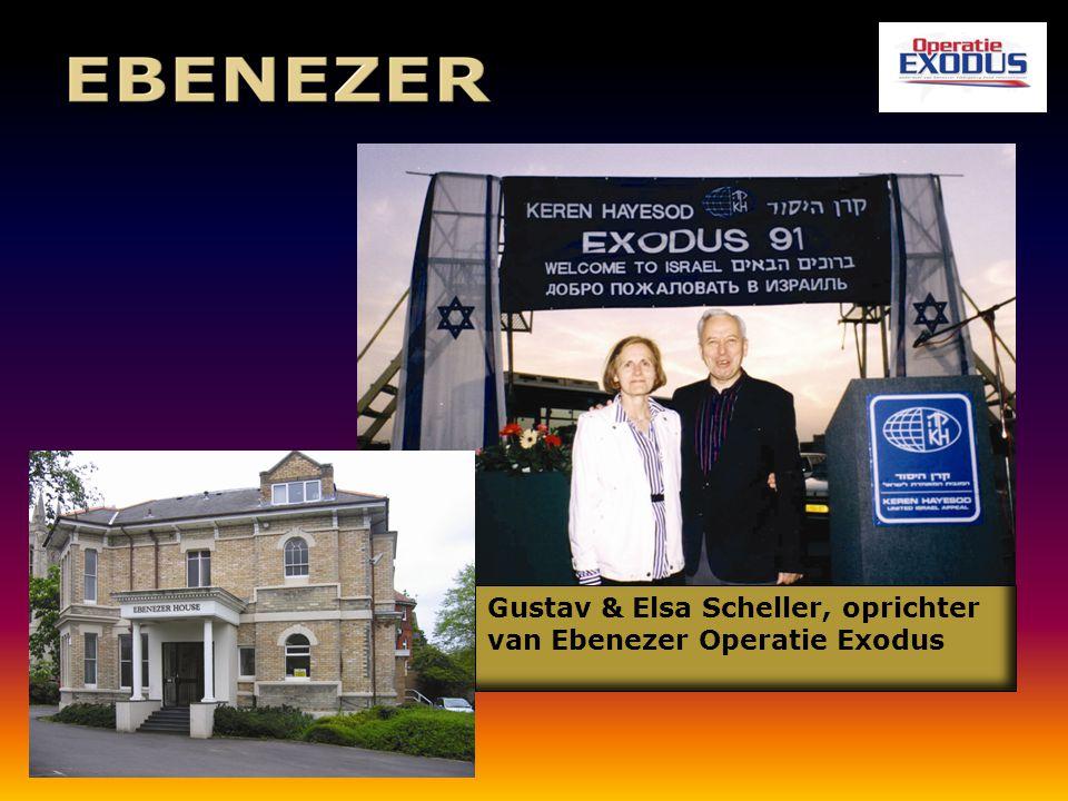 Gustav & Elsa Scheller, oprichter van Ebenezer Operatie Exodus