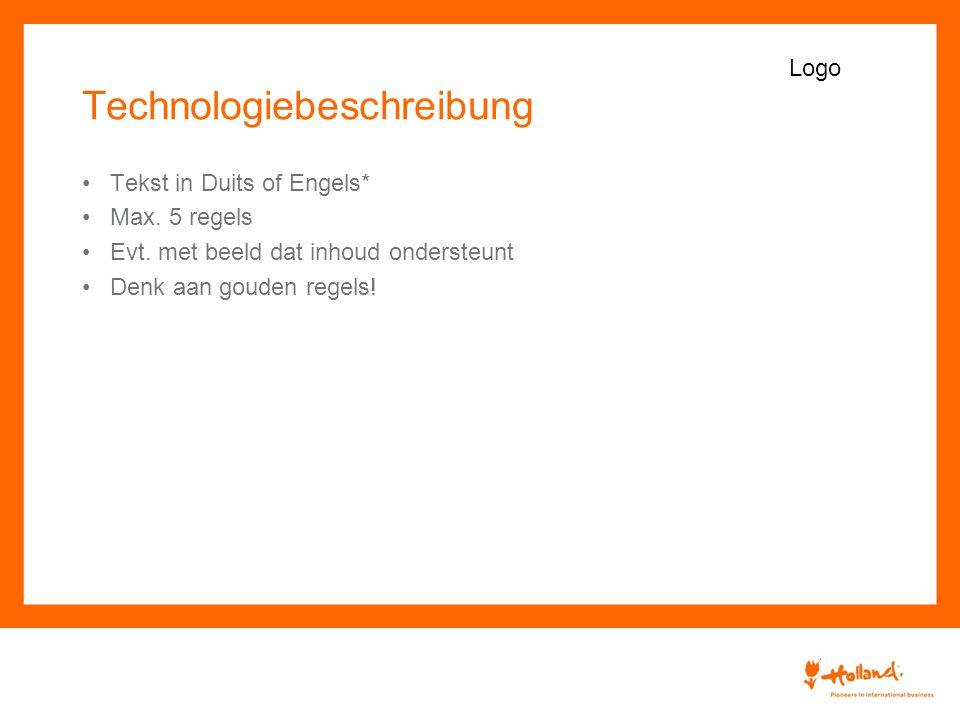 Technologiebeschreibung Tekst in Duits of Engels* Max.