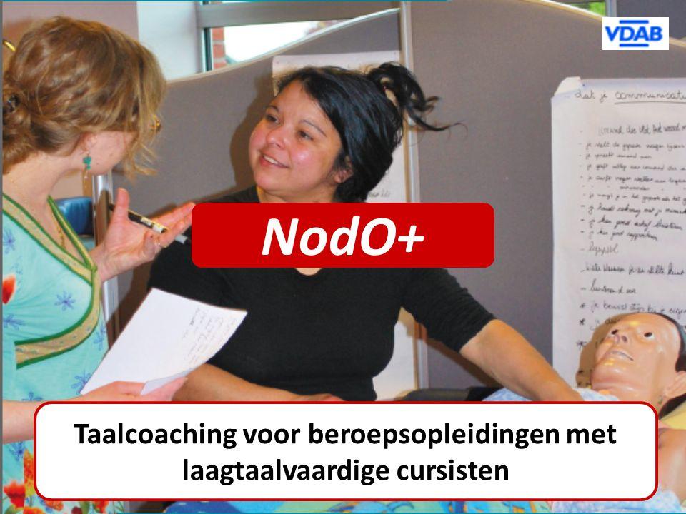 NodO+ Taalcoaching voor beroepsopleidingen met laagtaalvaardige cursisten