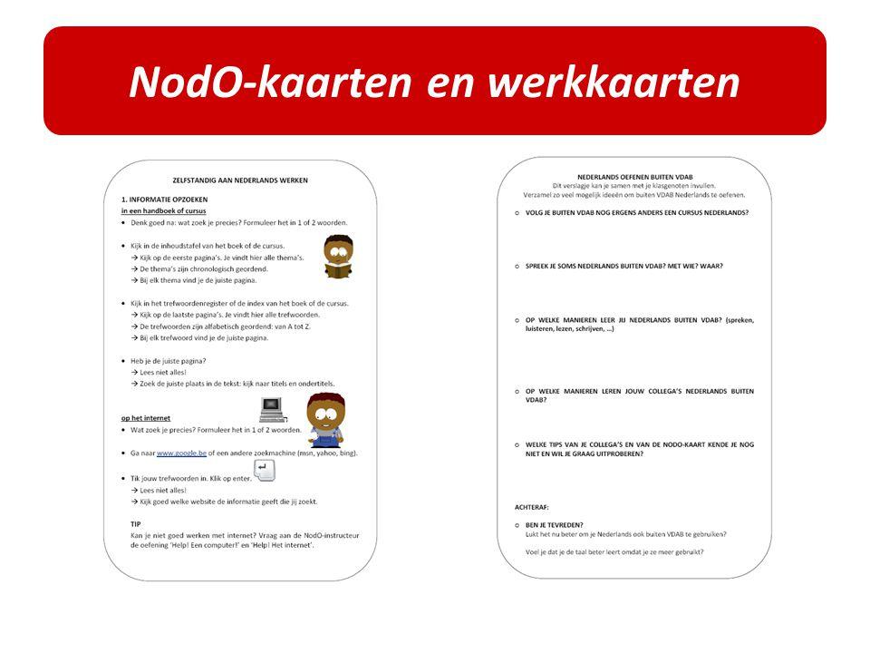 NodO-kaarten en werkkaarten
