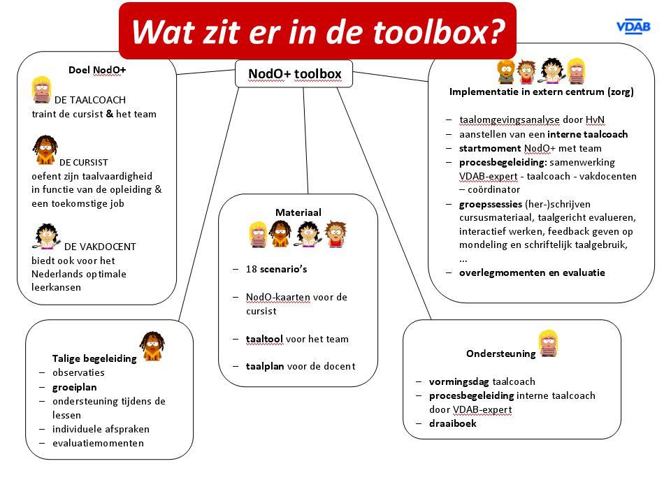 Wat zit er in de toolbox?