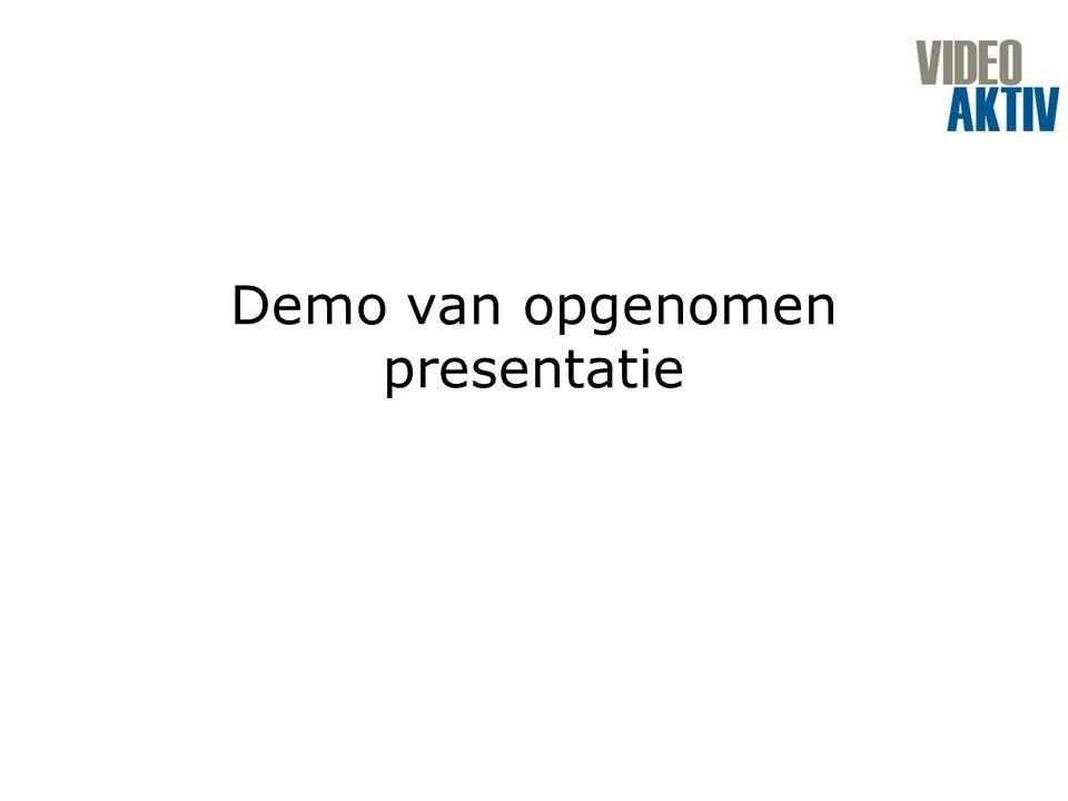 Demo van opgenomen presentatie