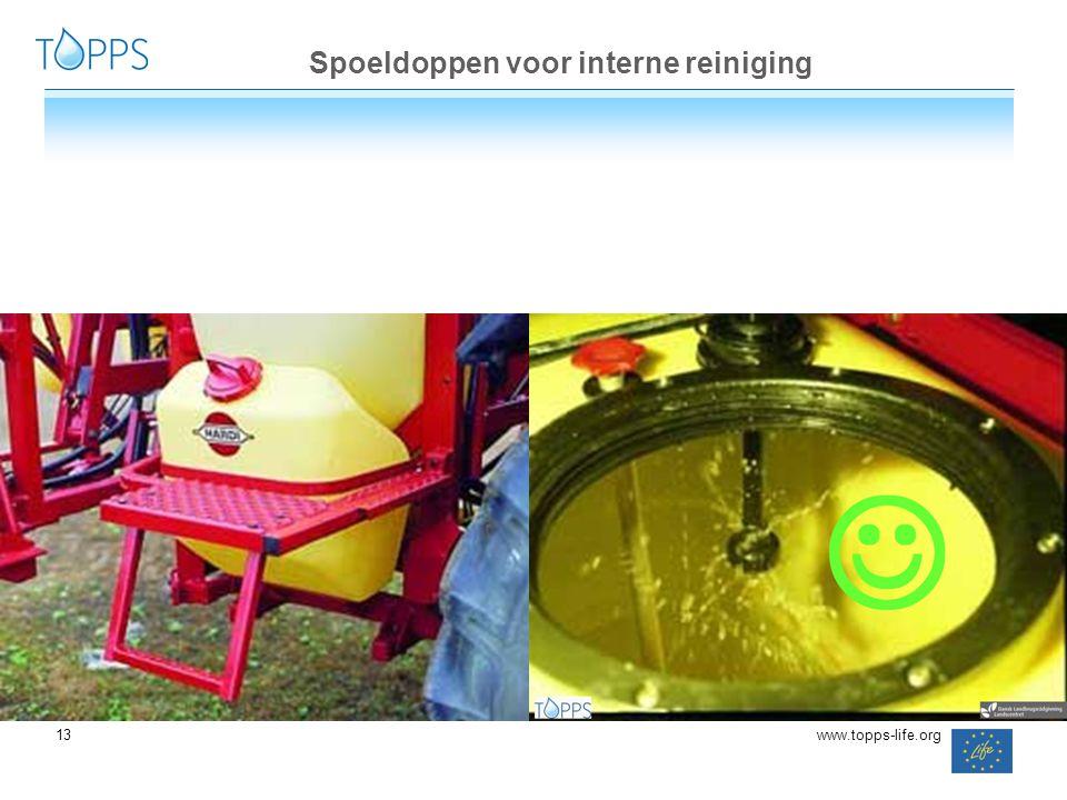 13 www.topps-life.org Spoeldoppen voor interne reiniging