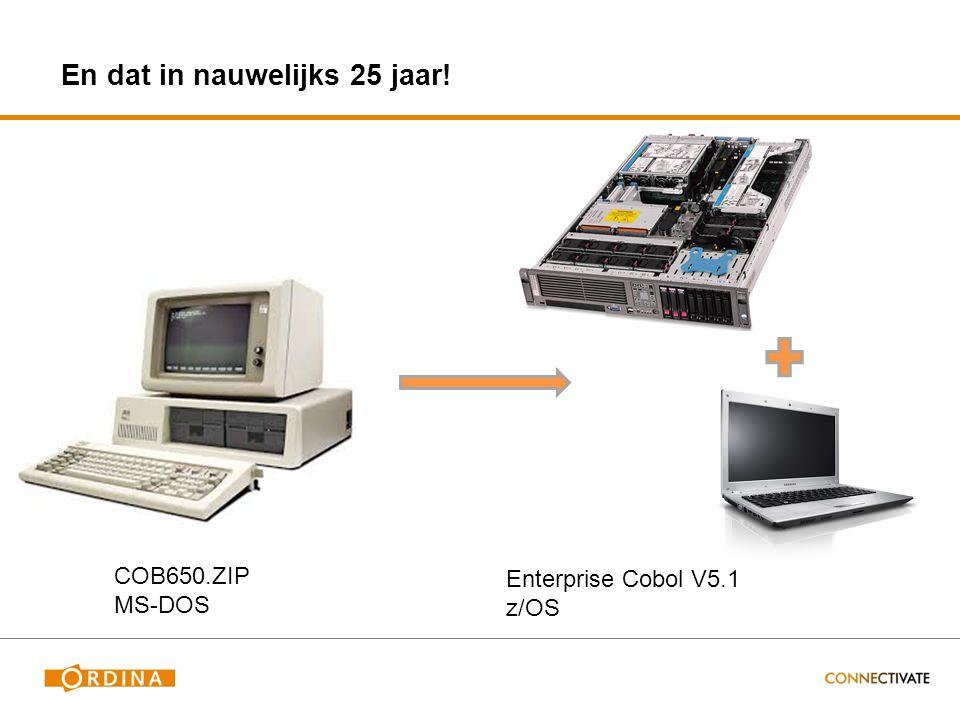 COB650.ZIP MS-DOS Enterprise Cobol V5.1 z/OS En dat in nauwelijks 25 jaar!