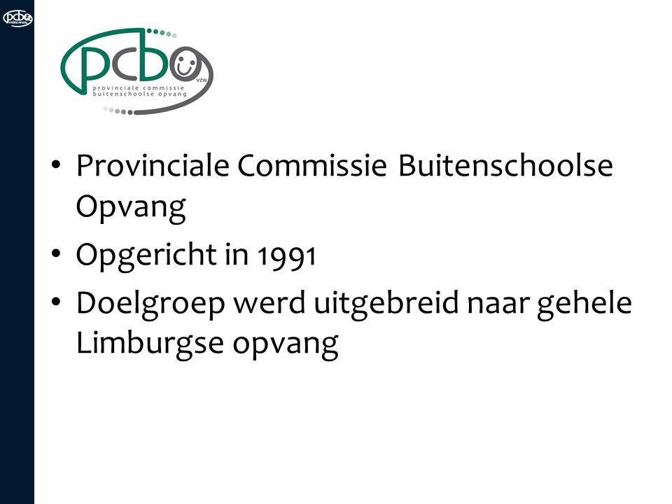 Opdrachten van PCBO Instrumenten Advies Ondersteuning Informatie Lerend netwerk Uitwisseling van info en 'good practices' Vorming en coaching Uitbouw eigen expertise Innovatie