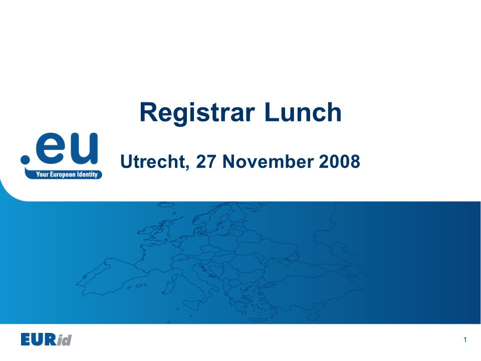 1 Registrar Lunch Utrecht, 27 November 2008