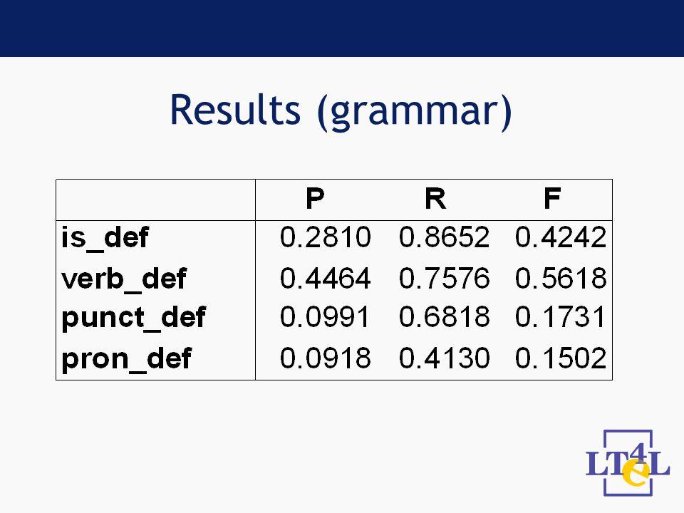 Results (grammar)